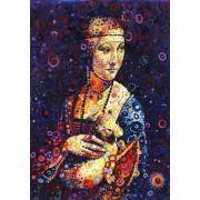 Puzzle Grafika - Leonardo Da Vinci: Lady with an Ermine, by Sally Rich, 1.500 piese (63600)