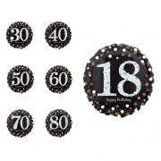Liragram Globo de Burbujas de Champagne con número de 45 cm - Número 70