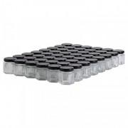 Lubéron Apiculture 48 pots verre hexagonaux 50g (47 ml) avec couvercle TO 43 - Couvercle - Noir