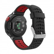Curea silicon Tech-Protect Smooth Garmin Forerunner 220/230/235/630/735 Black/Red