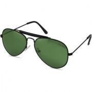 Laurels Avenger UV Protected Aviator Sunglasses - Green Lens - LS-Avg-040202