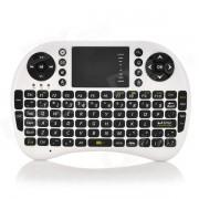 UKB-500-RF 2.4GHz mini raton inalambrico de aire de 92 teclas de teclado - blanco + negro