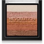 Makeup Revolution Shimmer Brick bronceador e iluminador 2 en 1 tono Bronze Kiss 7 g