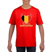 Bellatio Decorations Rood Belgie rode duivels hart shirt kinderen