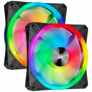 Corsair ventilátor QL Series QL140 RGB LED, 2x 140mm, 26dBA, Lighting Node CORE CO-9050100-WW