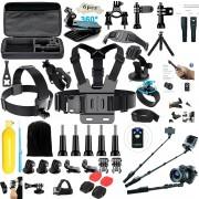 "Titan Set Accesorii GoPro 60 buc Profesional ""Expert""- Kit Accesorii Gopro Profesional include Selfie Stick Profi"