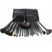 Royalkart Makeup Brushes 24 Piece Set Professional Natural Soft Hair Wooden Handle Foundation Brush Kit