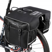 WEST BIKING 30L Bicycle Rear Seat Bag Waterproof Double Side Bike Bag