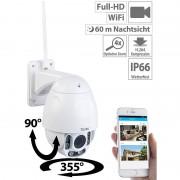 7links Speed-Dome Outdoor-WLAN-IP-Überwachungskamera mit Full HD & Nachtsicht