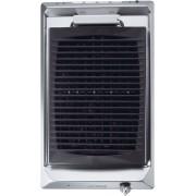 Plita grill incorporabila Smeg Domino Contemporanea SEGR531X, 30 cm, 1 gratar BBQ, inox