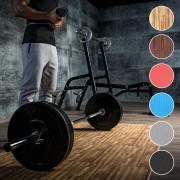 Gorilla Sports Sportschool Vloer Beschermingsmatten (6 matten + 12 eindstukken) Donkere houtkleur