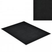 [en.casa] Lábtörlő szőnyeg - csúszásgátlóval / előszoba szőnyeg - 120x90cm (fekete)