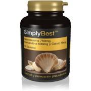 Simply Supplements Glucosamina,Condroitina y Calcio Extra Fuerte - 60 Cápsulas