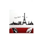 ELECTROPRIME® DIY Paris City Eiffel Tower Removable Art Decal Mural Bedroom Wall Sticker Decor