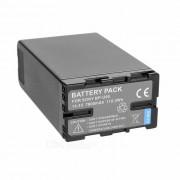 14.4V 6600mAh bateria w / indicador para Sony PMW-EX1? PMW-EX1R - negro