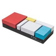 Pa Design Notes adhésives Monde Riant / Set 6 blocs - Pa Design blanc,bleu,jaune,rouge en papier