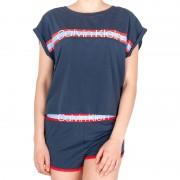 Calvin Dámské pyžamo Calvin Klein modré (QS6193E-5CX) S
