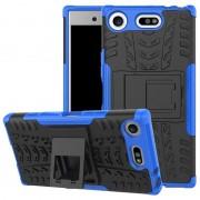 Capa Híbrida Antiderrapante para Sony Xperia XZ1 Compact - Azul / Preto