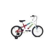 Bicicleta Ocean Aro 16 Branco/Vermelho - Verden