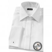 Pánská košile SLIM krytá léga, manžetové knoflíčky bílá Avantgard 111-1-45/46/182