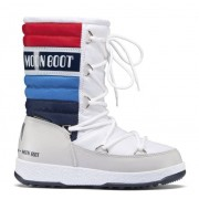 Moon Boots WE Quilted Jr - Moon Boot - White/Blue/Red