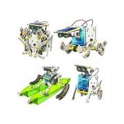 RCTecnic - RC Robotics Solar Robotic Kit | 14 Robots 1 Diy Toys Construction Original