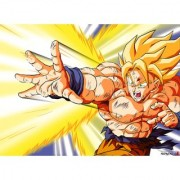 goku ssj fights sticker poster|dragon ball z poster|anime poster|size:12x18 inch|multicolor
