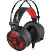 Casti Gaming Genesis NEON 360 Stereo BackLight Vibration Black Red