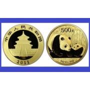 China 2011 - 500 yuan, moneda cu panda, aurit