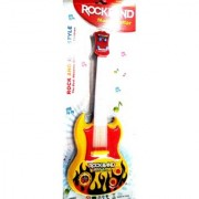 ROCKBAND Plastic Musial Light Guitar (White and Red 39 cm x 4 cm x 15 cm)