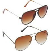 Hrinkar Aviator Sunglasses(Brown)