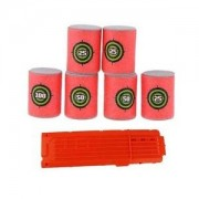Alcoa Prime 6pcs Soft Bullet Target Dart 18pcs Bullet Clip for NERF N-strike Toy ACCS