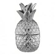 Pote Decorativo Abacaxi Prata