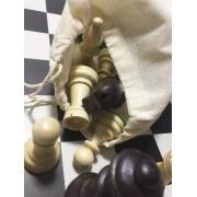 Saculeț textil pentru piesele de șah
