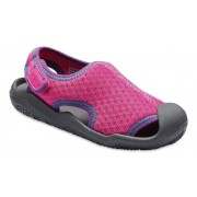 Crocs Swiftwater™ Sandalen Kinder Neon Magenta/Slate Grey 23