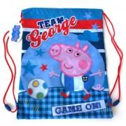Sac de umar cu snur Peppa Pig - George