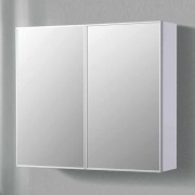 Spiegelkast Badkamer Allora 90x70x15cm MDF Hoogglans Wit