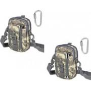 House Of Sensation Set of 2 Tactical Molle Pouch Universal Outdoor Sport Utility Gadget Belt Waist Bag(Grey)