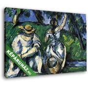Paul Cézanne: Hölgyek a kertben (35x25 cm, Vászonkép )