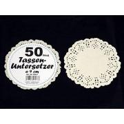10 x 50 kopjes onderzetters = 500 stukjes papier, taarttopper, kleedjes
