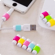 Imported 10pcs Protector Saver Cover for iPhone iPad USB Charger Cable Cord ( Assorted Colors )