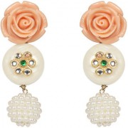 Envy Jewellery Gold Plated Pearl flower Dangle Earring