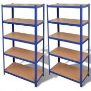 vidaXL Storage Shelf Blue 2 pcs (2 x 141126)