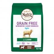 9,5кг Grain Free Adult Light Dog Nutro, суха храна за кучета, с агнешко