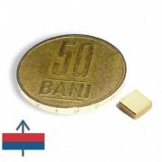 Magnet neodim bloc 5 x 5 x 2 mm aurit