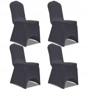 vidaXL Stretch Chair Cover 4 pcs Anthracite