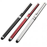 Tek Styz Pro Lápiz capacitivo y bolígrafo para Motorola Edge Lite con tinta negra y táctil de alta sensibilidad, 3 unidades, color plateado y rojo
