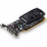 PNY NVIDIA Video Card Quadro P1000 GDDR5 4GB/128bit, 640 CUDA Cores, PCI-E 3.0 x16, 4xminiDP, Cooler, Single Slot, Low Profile 4xmDP-DP Cables, Full Size and Low Profile Bracket included 3yr. warr. VCQP1000BLK-1