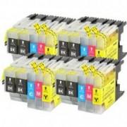 Pack de 12 cartuchos compatibles para Brother LC-1240BK/C/M/Y