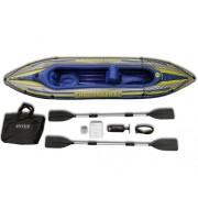 Barca gonflabila Canoe Challenger 2 Intex 68306 cu pompa si vasle